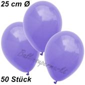 Luftballons 25 cm, Lila, 50 Stück