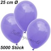 Luftballons 25 cm, Lila, 5000 Stück