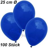 Luftballons 25 cm, Marineblau, 100 Stück