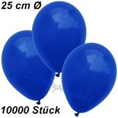 Luftballons 25 cm, Marineblau, 10000 Stück