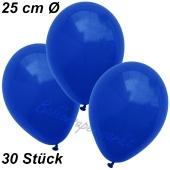 Luftballons 25 cm, Marineblau, 30 Stück