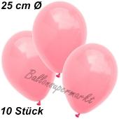 Luftballons 25 cm, Neon Pink, 10 Stück