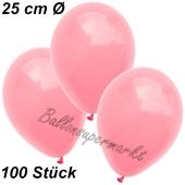 Luftballons 25 cm, Neon Pink, 100 Stück