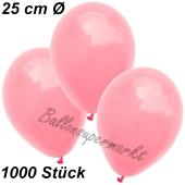 Luftballons 25 cm, Neon Pink, 1000 Stück