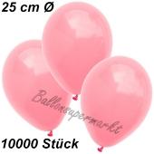 Luftballons 25 cm, Neon Pink, 10000 Stück