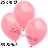 Luftballons 25 cm, Neon Pink, 50 Stück