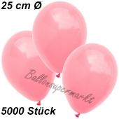 Luftballons 25 cm, Neon Pink, 5000 Stück