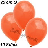 Luftballons 25 cm, Orange, 10 Stück