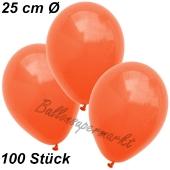 Luftballons 25 cm, Orange, 100 Stück