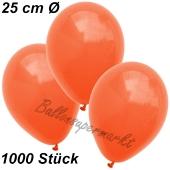 Luftballons 25 cm, Orange, 1000 Stück
