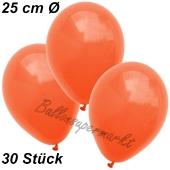 Luftballons 25 cm, Orange, 30 Stück