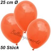 Luftballons 25 cm, Orange, 50 Stück