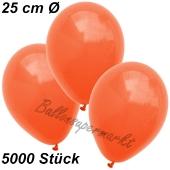 Luftballons 25 cm, Orange, 5000 Stück