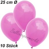 Luftballons 25 cm, Pink, 10 Stück