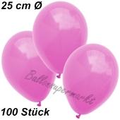 Luftballons 25 cm, Pink, 100 Stück