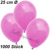 Luftballons 25 cm, Pink, 1000 Stück