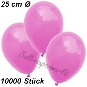 Luftballons 25 cm, Pink, 10000 Stück