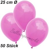 Luftballons 25 cm, Pink, 50 Stück