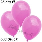 Luftballons 25 cm, Pink, 500 Stück