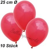 Luftballons 25 cm, Rot, 10 Stück