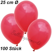 Luftballons 25 cm, Rot, 100 Stück