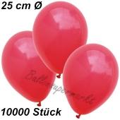 Luftballons 25 cm, Rot, 10000 Stück