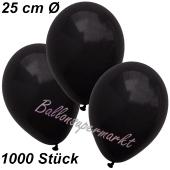 Luftballons 25 cm, Schwarz, 1000 Stück
