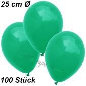 Luftballons 25 cm, Smaragdgrün, 100 Stück