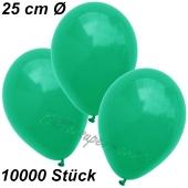 Luftballons 25 cm, Smaragdgrün, 10000 Stück