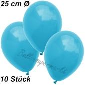 Luftballons 25 cm, Türkis, 10 Stück
