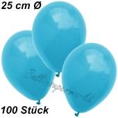 Luftballons 25 cm, Türkis, 100 Stück