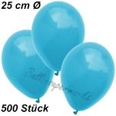 Luftballons 25 cm, Türkis, 500 Stück