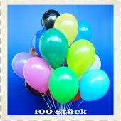 Luftballons 30 cm, Bunt gemischt, 100 Stück