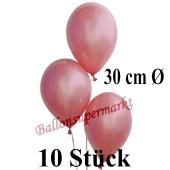 10 Stück Luftballons Rosegold Metallic, 30 cm
