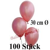 100 Stück Luftballons Rosegold Metallic, 30 cm