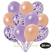 luftballons-30er-pack-10-flieder-konfetti-und-10-metallic-lila-10-metallic-lachs