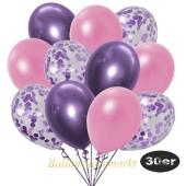 luftballons-30er-pack-10-flieder-konfetti-und-10-metallic-rose-10-chrome-lila