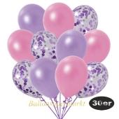 luftballons-30er-pack-10-flieder-konfetti-und-10-metallic-lila-10-metallic-rose