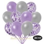 luftballons-30er-pack-10-flieder-konfetti-und-10-metallic-lila-10-metallic-silber