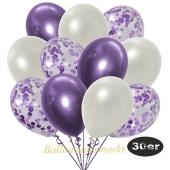 luftballons-30er-pack-10-flieder-konfetti-und-10-metallic-weiss-10-chrome-lila