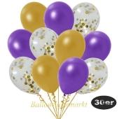 luftballons-30er-pack-10-gold-konfetti-und-10-metallic-gold-10-metallic-violett