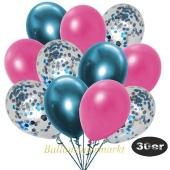 luftballons-30er-pack-10-hellblau-konfetti-und-10-metallic-pink-10-chrome-blau