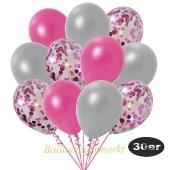 luftballons-30er-pack-10-pink-konfetti-und-10-metallic-pink-10-metallic-silber