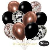 luftballons-30er-pack-5-rosegold-5-schwarz-konfetti-und-10-metallic-schwarz-10-chrome-kupfer