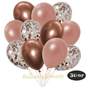 luftballons-30er-pack-10-rosegold-konfetti-und-10-metallic-rosegold-10-chrome-kupfer