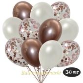 luftballons-30er-pack-10-rosegold-konfetti-und-10-metallic-weiss-10-chrome-rosegold