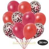 luftballons-30er-pack-10-rot-konfetti-und-10-metallic-warmrot-10-metallic-rot