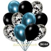 luftballons-30er-pack-10-schwarz-konfetti-und-10-metallic-schwarz-10-chrome-blau
