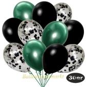 luftballons-30er-pack-10-schwarz-konfetti-und-10-metallic-schwarz-10-chrome-gruen