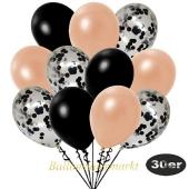 luftballons-30er-pack-10-schwarz-konfetti-und-10-metallic-lachs-10-metallic-schwarz